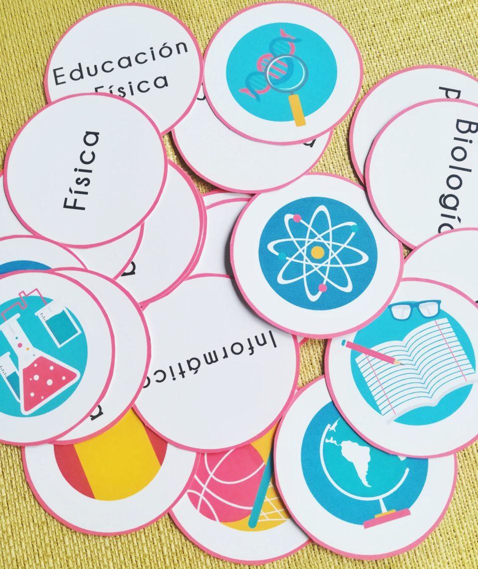 Memory asignaturas escolares [MATERIAL COMPLETO]