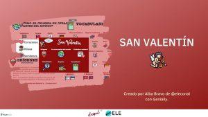 Infografía sobre San Valentín