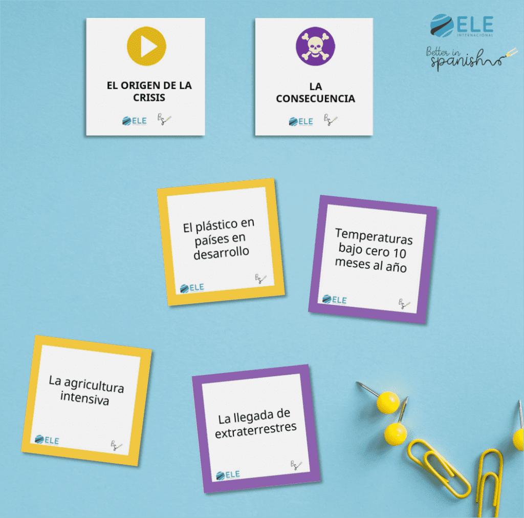 Actividad para trabajar la expresión oral y le medio ambiente. Hablar del medio ambiente en clase. #GCSESpanish #ProfedeELE