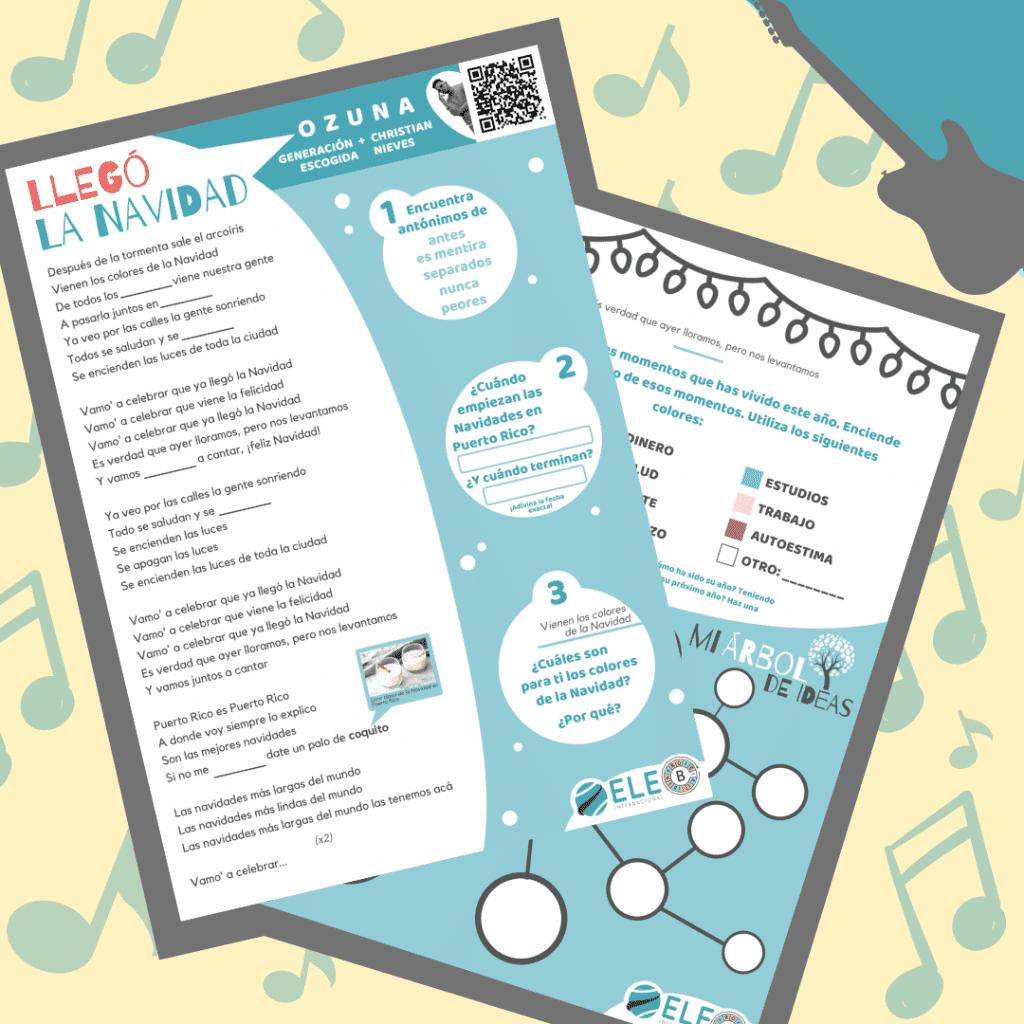Canción de Navidad. Actividad para trabajar la comprensión auditiva en clase de ELE.