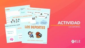 Actividad sobre deportes en español para niños