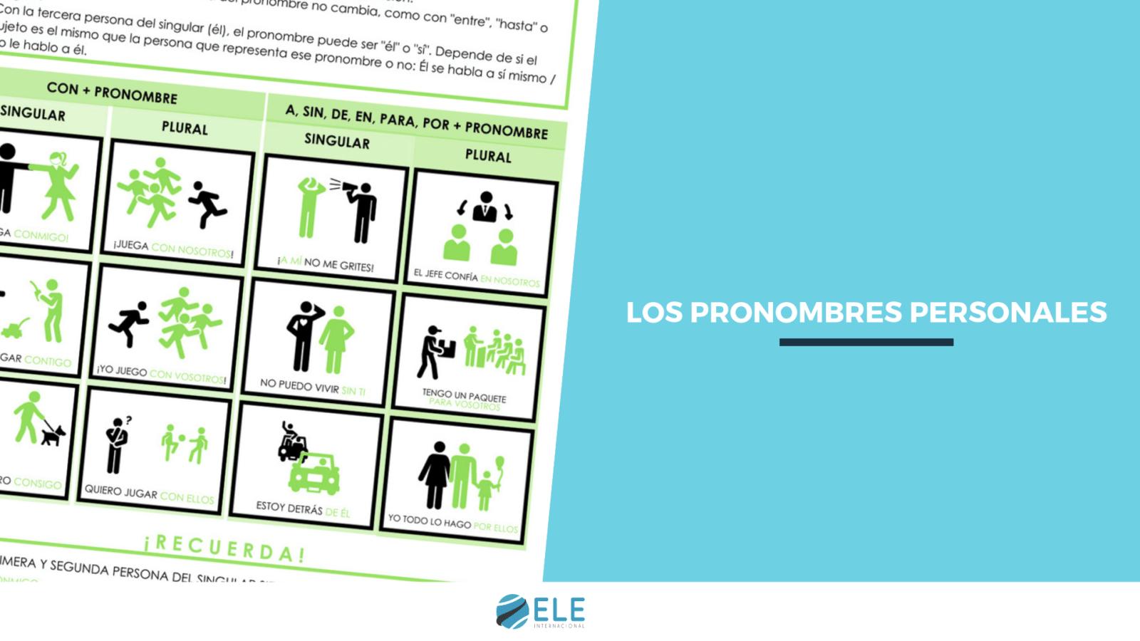 Fichas con pronombres personales en español para tus clases de ELE. #spanishteacher #classroom