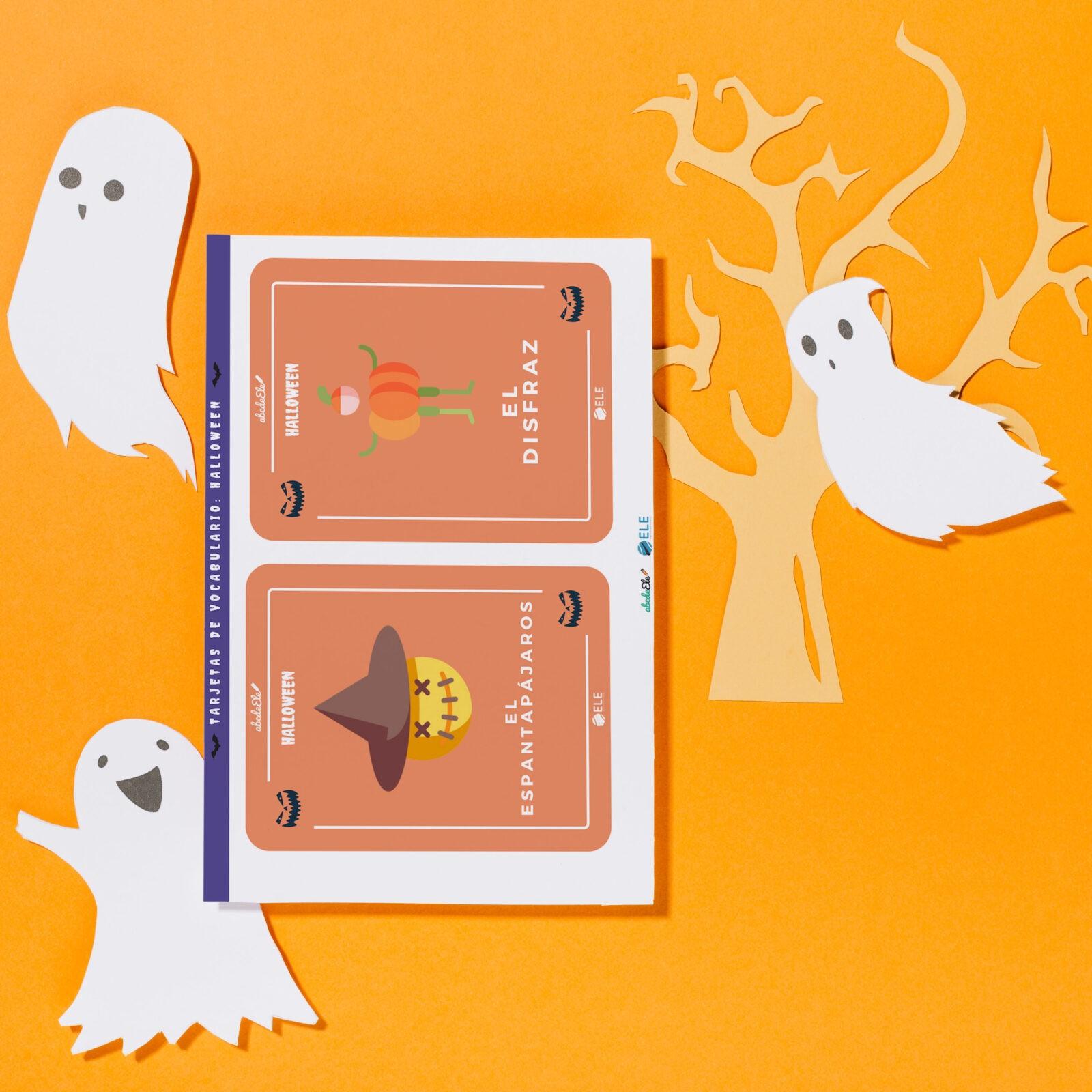 Tarjetas de vocabulario de Halloween [2 tarjetas gratuitas]
