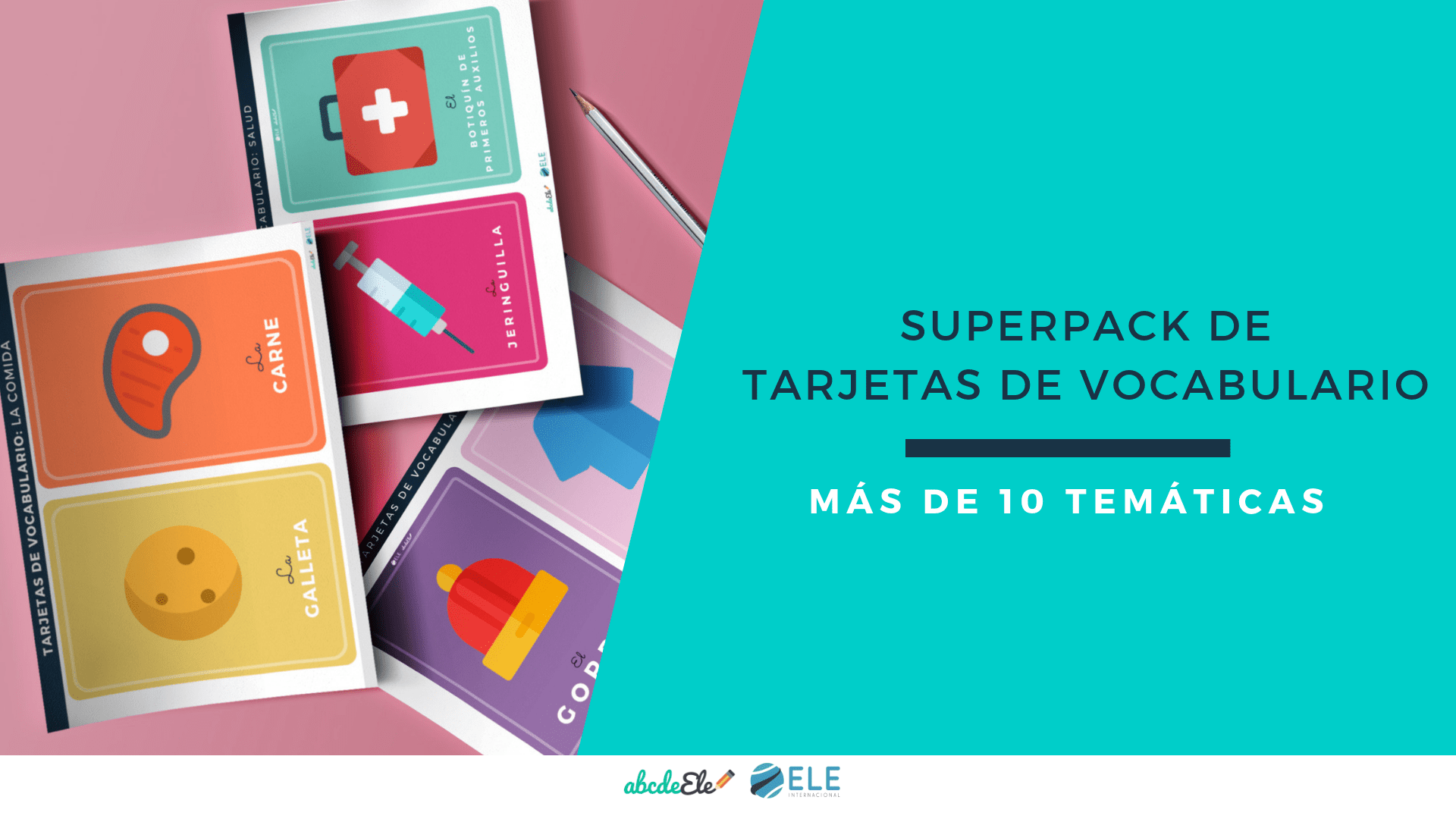 Pack con tarjetas de vocabulario