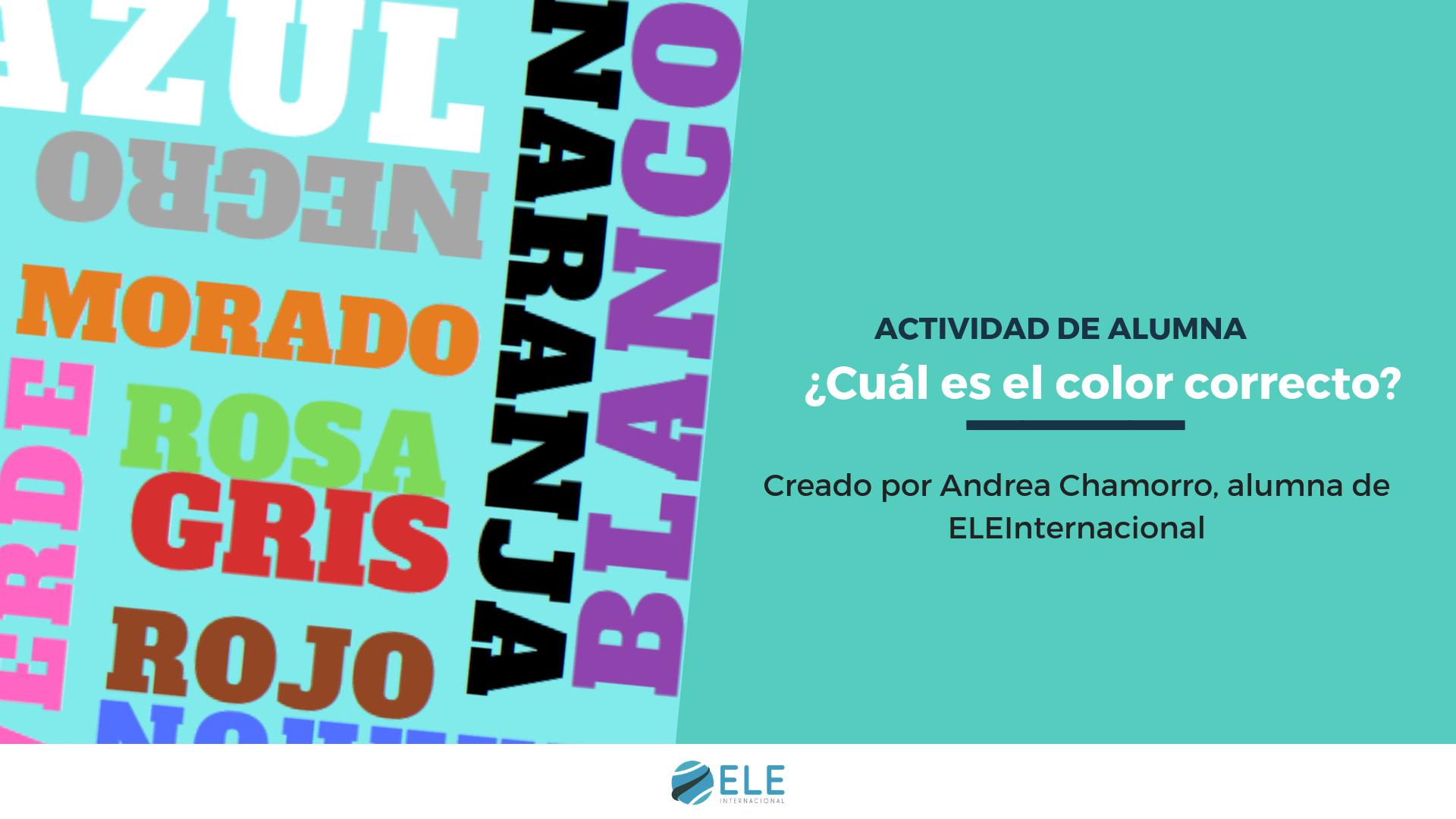 El juego de los colores. Ideas para trabajar los colores en clase de idiomas. #profedeele #spanishteacher