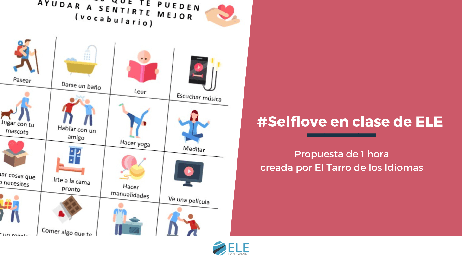 Actividades para trabajar en San Valentín en clase de español. #selflove #profedeele