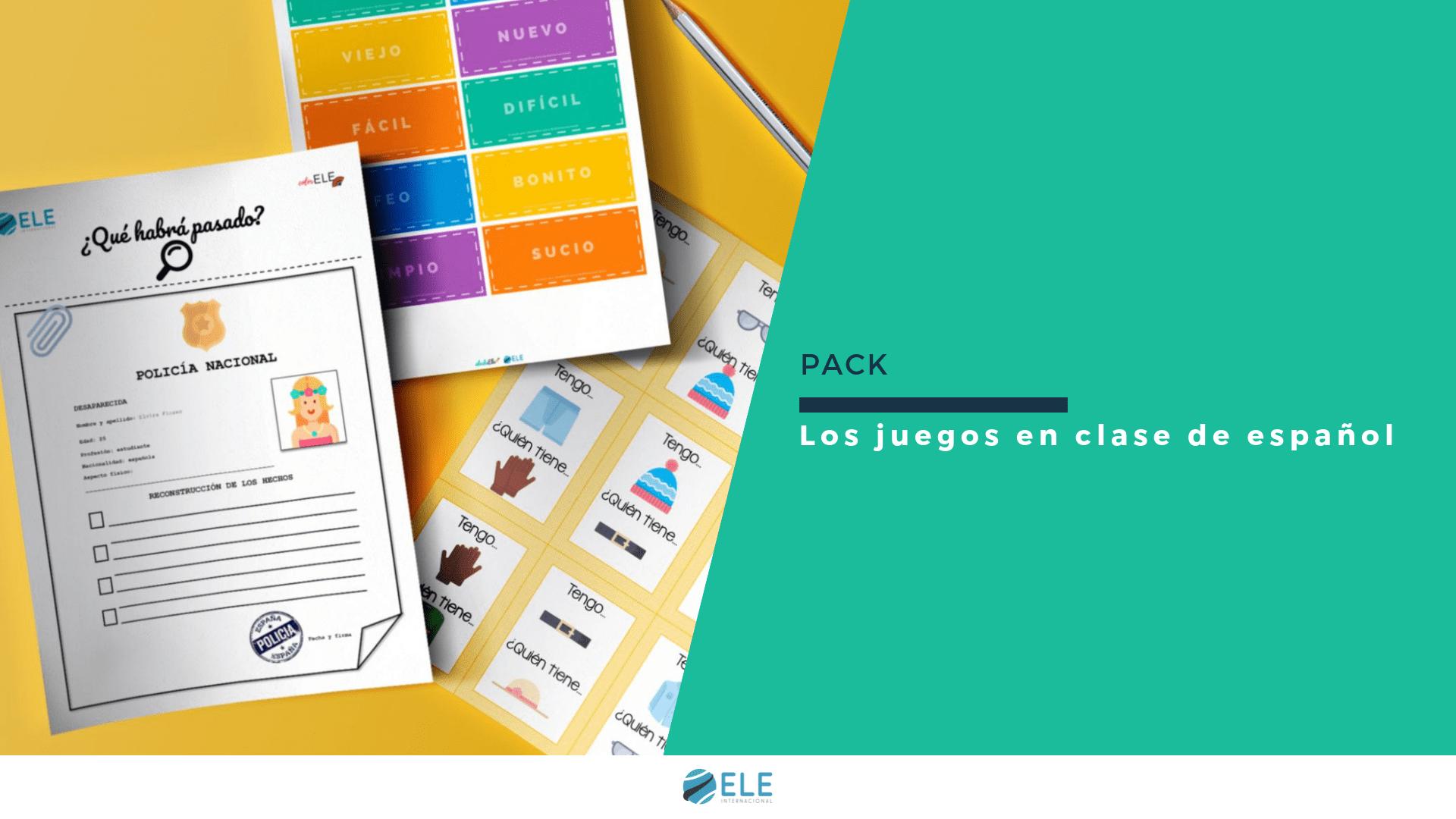 PACK DE JUEGOS PARA CLASE DE EPAÑOL. GAMIFICAR EN CLASE DE IDIOMAS. JUEGOS CLASE DE ELE. #SPANISHTEACHER #PROFEDEELE #RECURSOSEDUCATIVOS