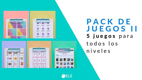 Pack de juegos para enseñar español como segunda lengua