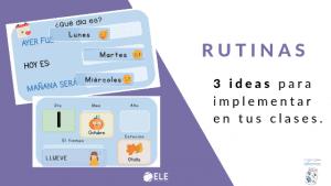 rutinas ideas para clases de español