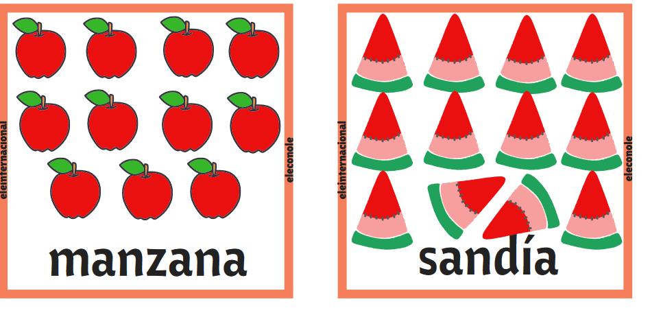 Los números, el colegio y las frutas [MATERIAL COMPLETO]