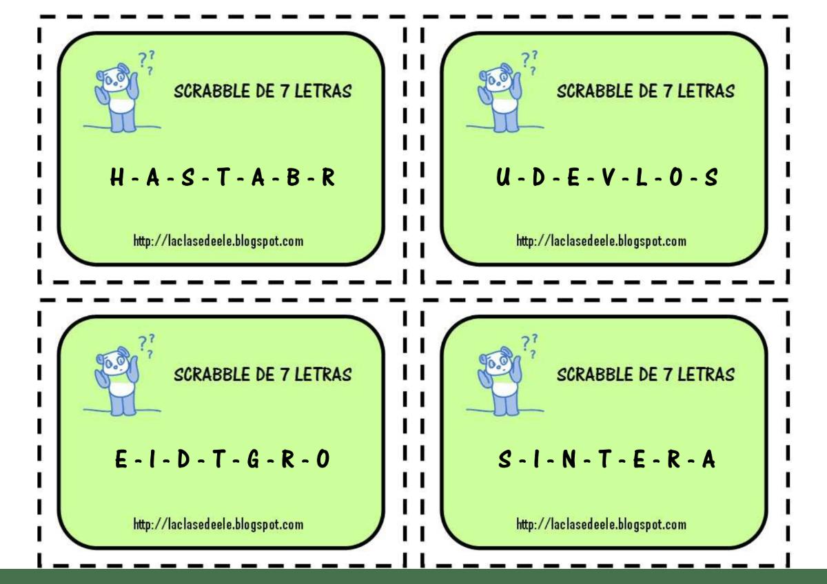 Juego de vocabulario: Scrabble [MATERIAL COMPLETO]