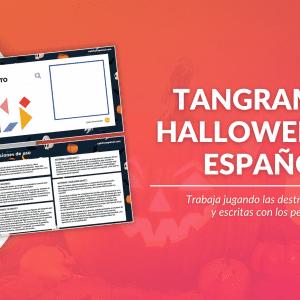 Tangram de Halloween en español