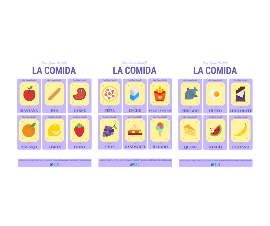La comida [MATERIAL COMPLETO]