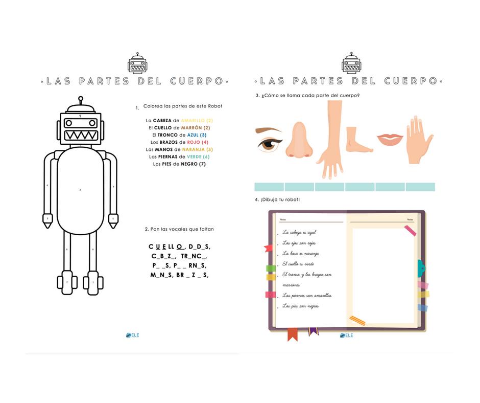 Las partes del cuerpo [MATERIAL COMPLETO] - ELEInternacional