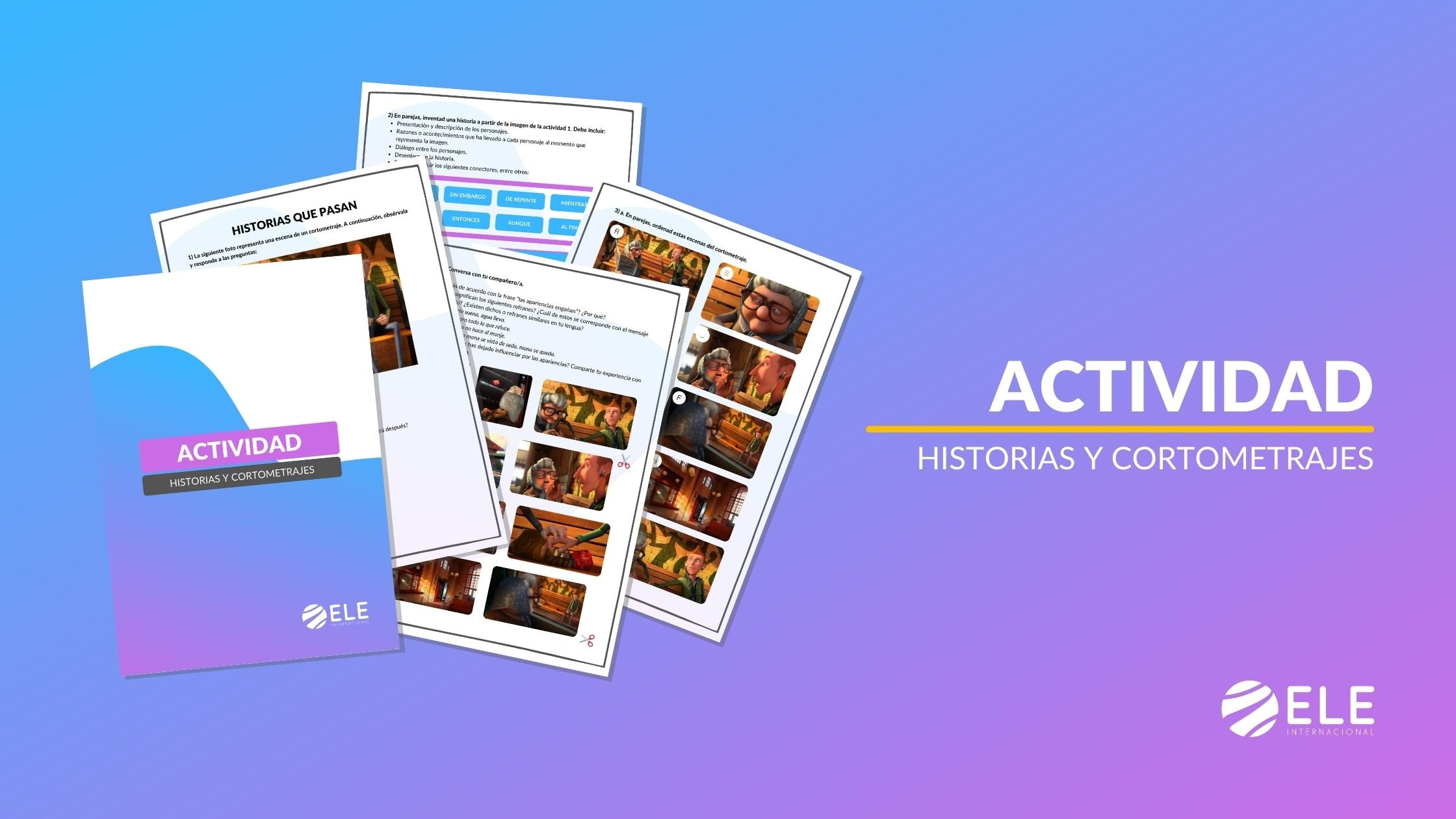 Historias y cortometrajes actividad