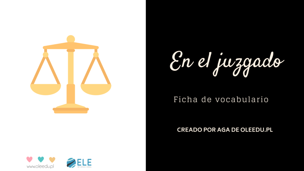 Vocabulario jurídico en clase de ELE