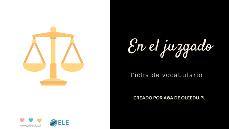 Vocabulario jurídico en clase de ELE. VOcabulario específico. #profedeele #spanishteacher