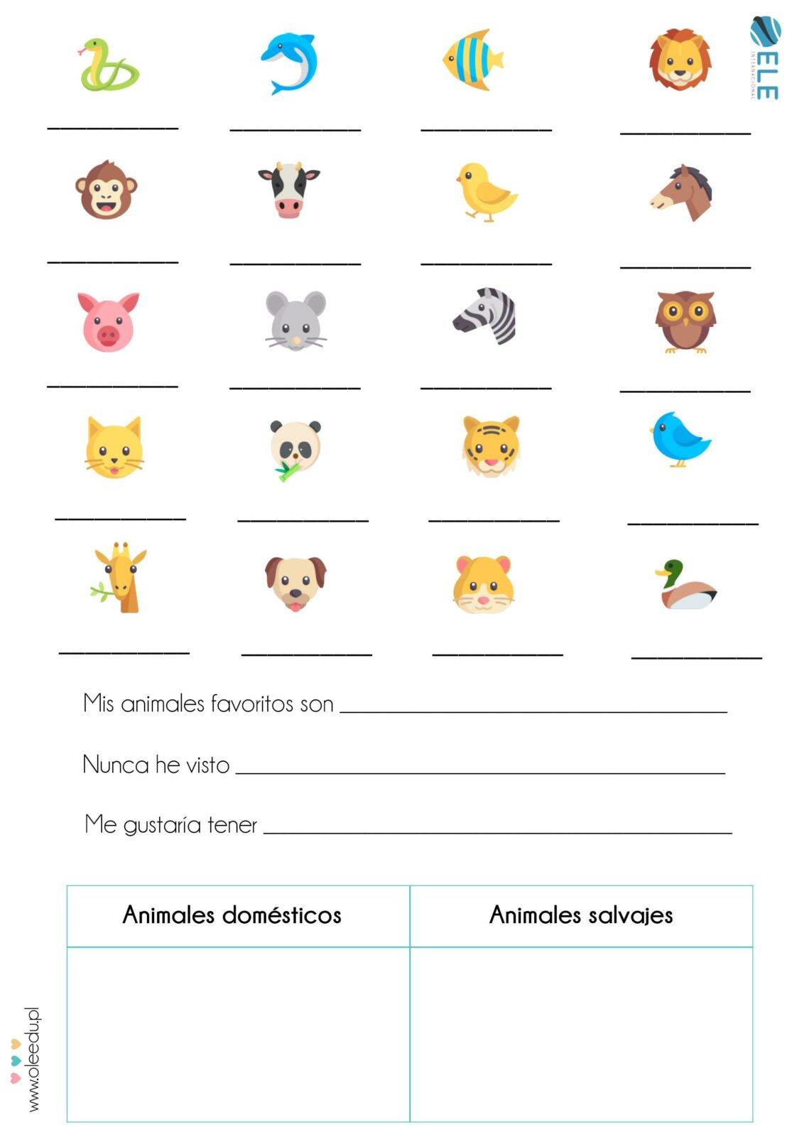 Los animales [MATERIAL COMPLETO]