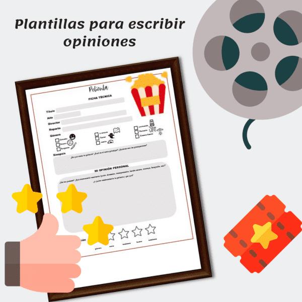 Plantillas para escribir opiniones. #spanishteacher #fichas