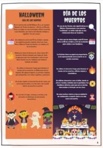 Infografía de Halloween para niveles B
