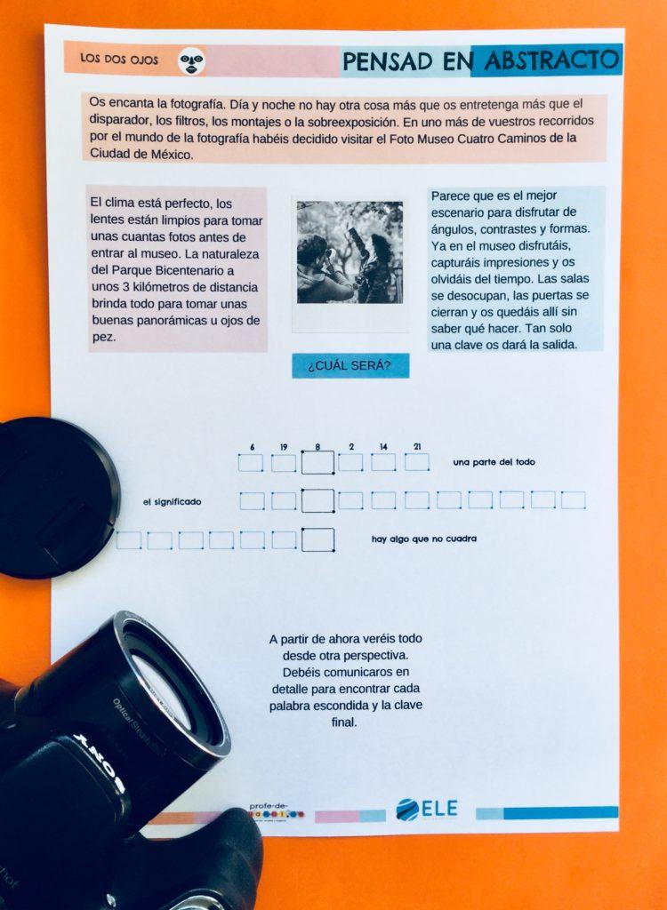 Habitación de escape sobre fotografía para tus clases de ELE. #spanishteacher #clasedeele