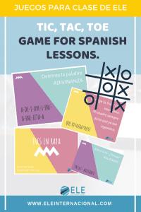 El juego del tres en raya. Actividad de preguntas-respuestas para repasar vocabulario, gramática, ortografía.