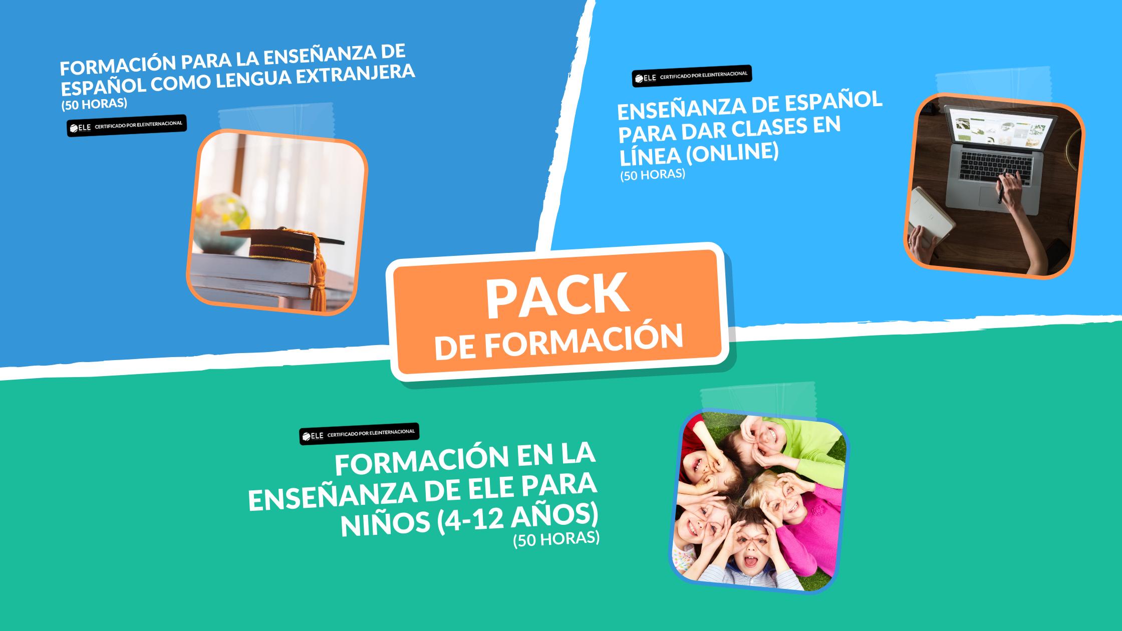 Triple Certificación:  Enseñanza de ELE General + Enseñanza de ELE a Niños +Enseñanza de ELE en línea